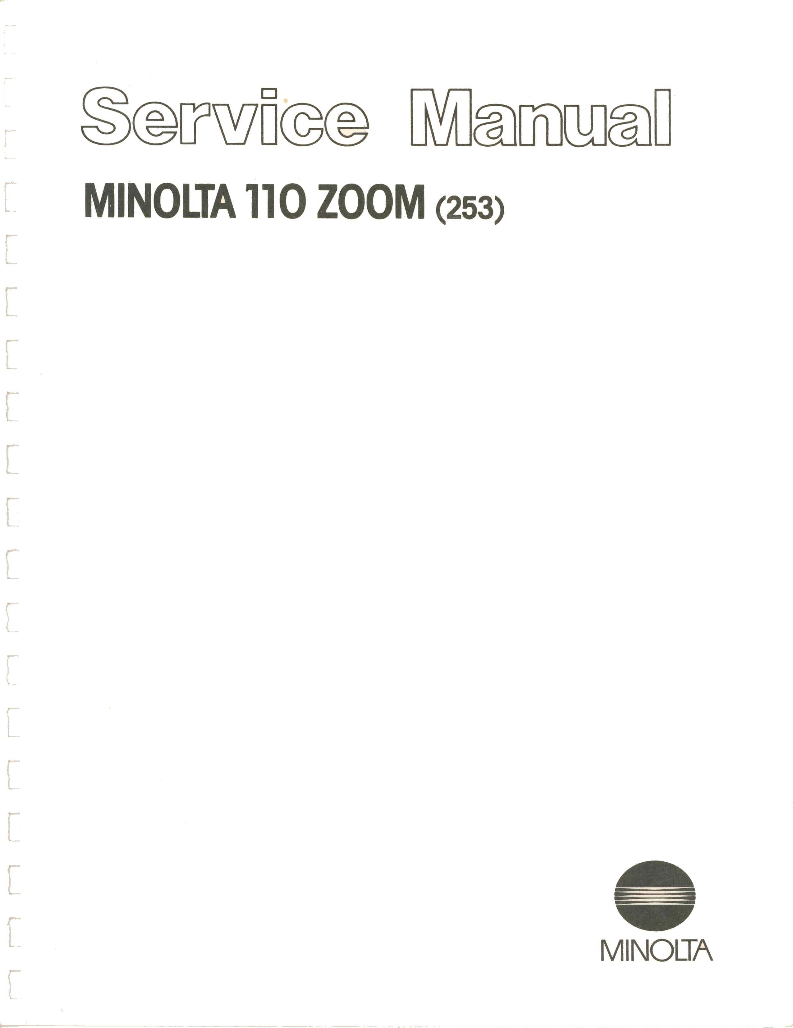 minolta 110 zoom slr brochure rh submin com 6 00 1 Year minolta 6001 service manual