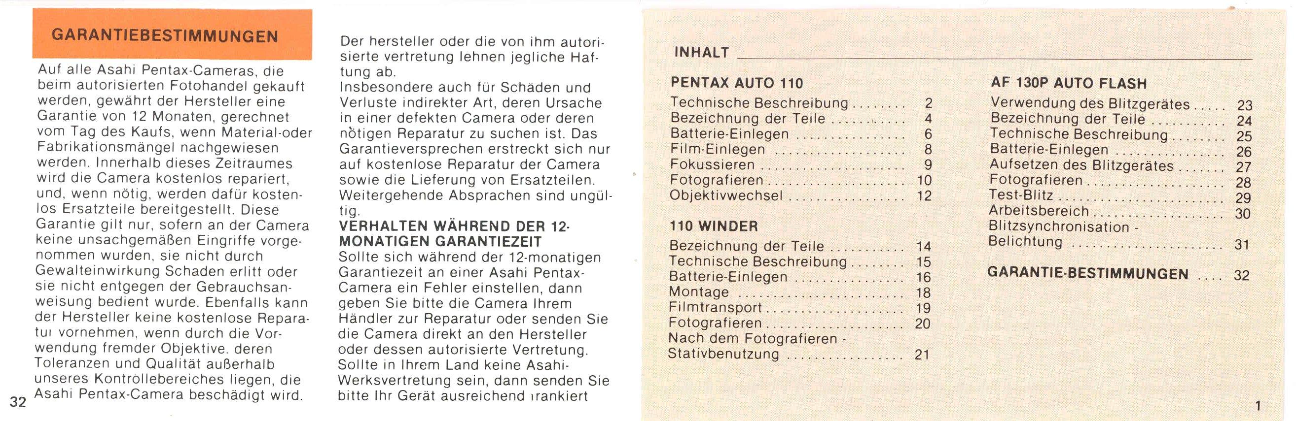 Pentax 110 Manual