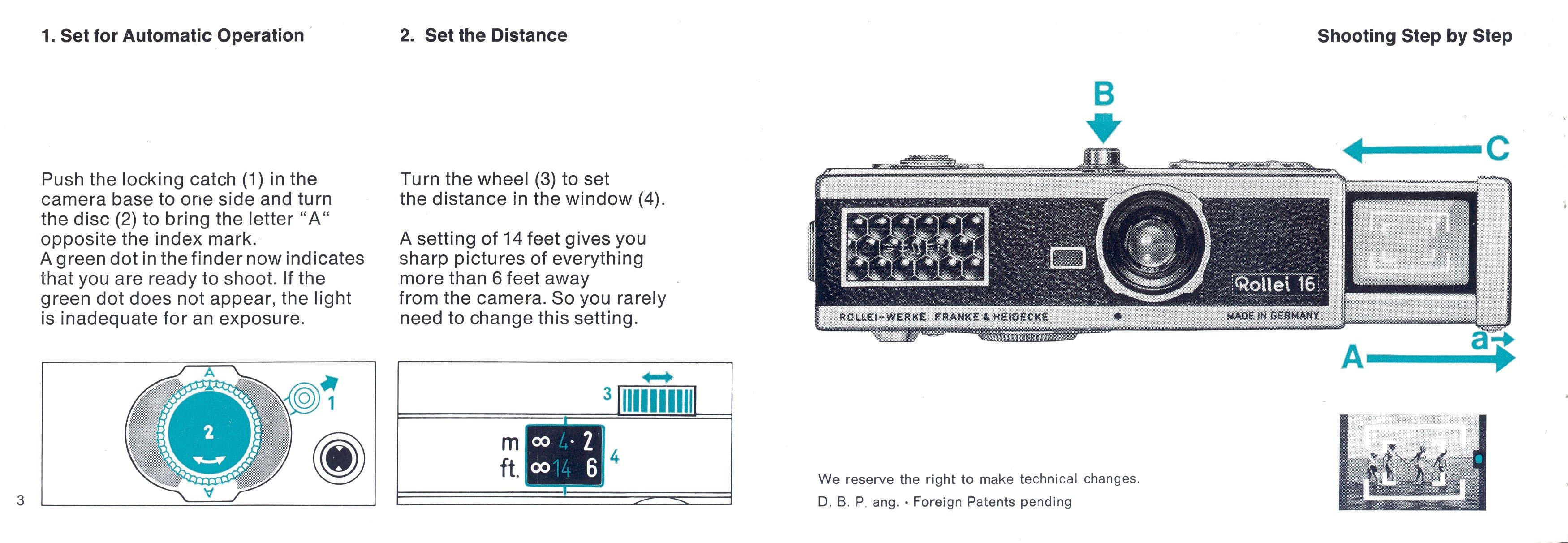 Rollei 16 (English) 64/07 Manual