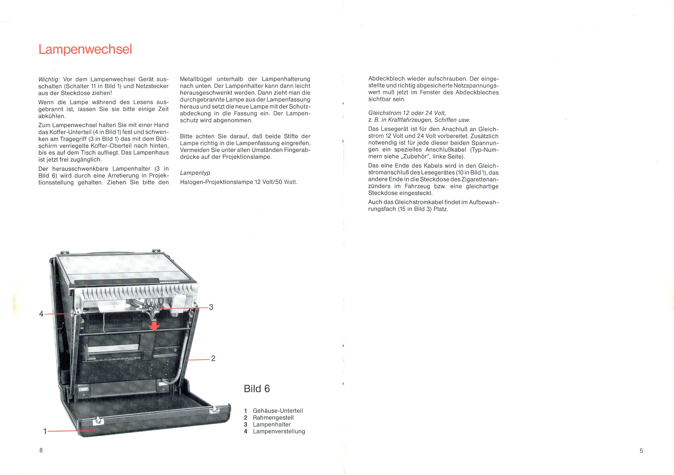 Minox Mikroplan Microfiche Reader Manual 83 06d