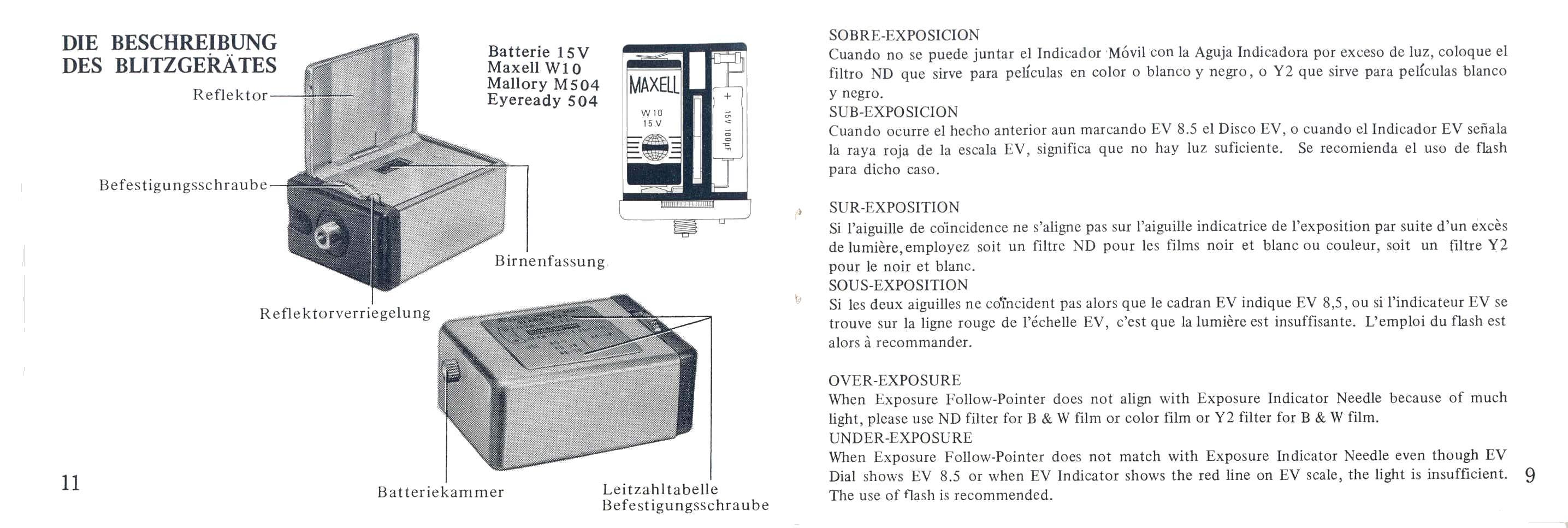 Porst KX 50 Manual